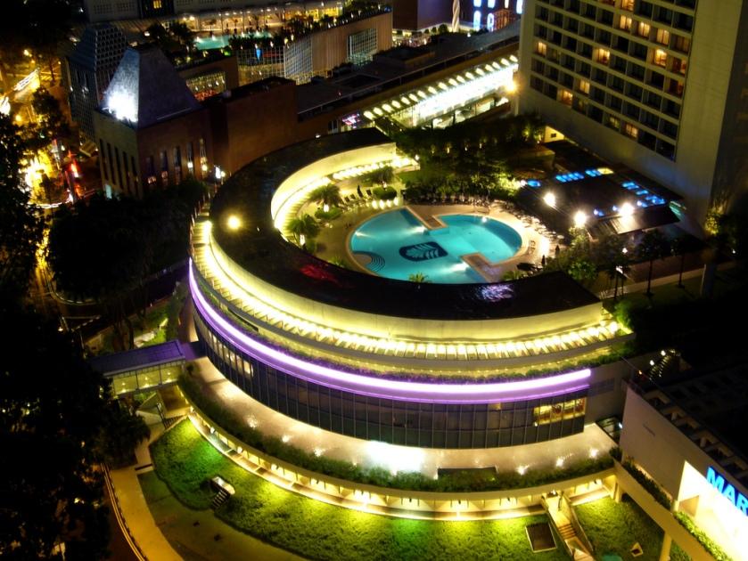Pan Pacific Singapore - Pool at night 2 photo