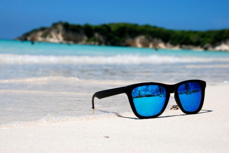 beach sunglasses pair