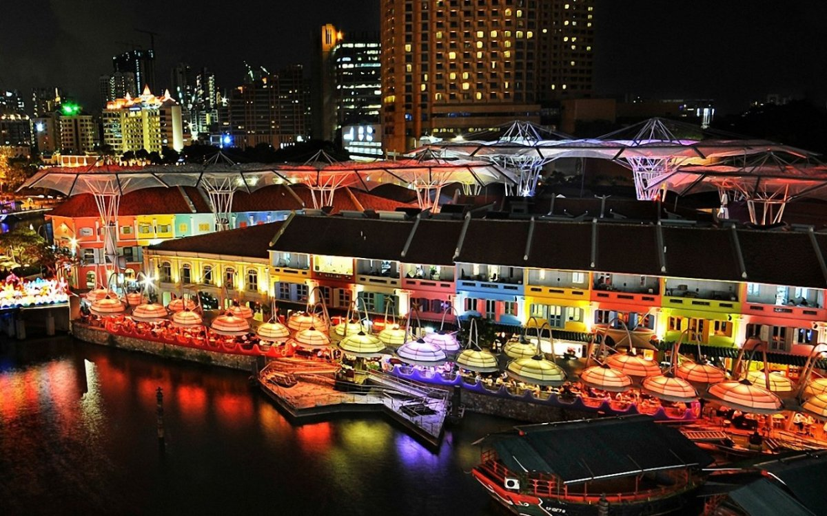 Clarke Quay Singapore Night - danielplummer