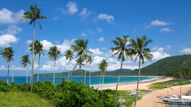 A stunning view from the lookout at Nacpan Beach.