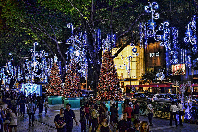 Orchard Road at Night - weekendnotes.com