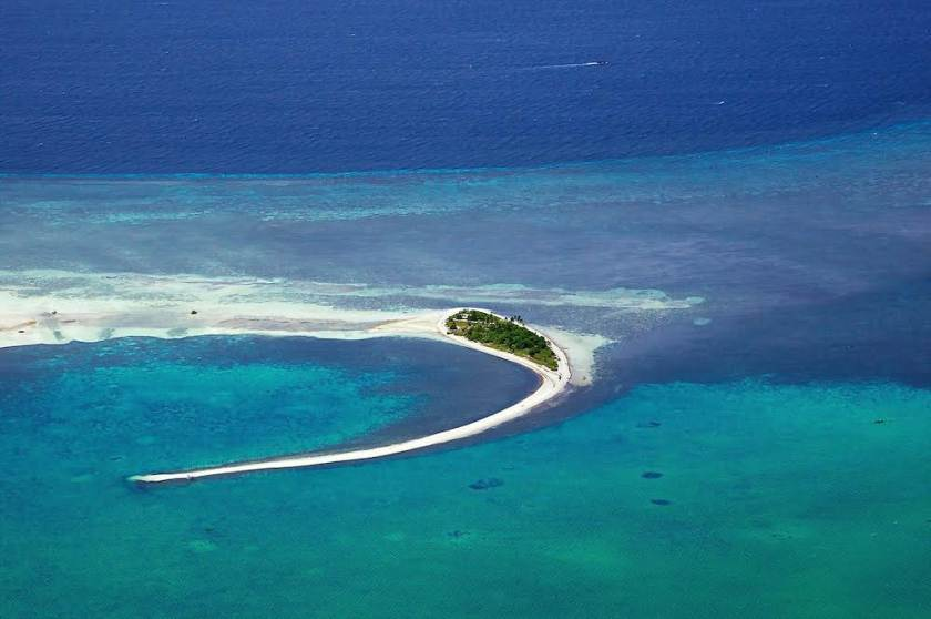Aerial view of Pungtud Island - Virgin Island. Bohol is an island province of the Philippines located in the Central Visayas region, consisting of Bohol Island and 75 minor surrounding islands. The province is a popular tourist destination with its beaches and resorts