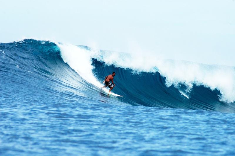 Surfing in Baler, Aurora, Philippines