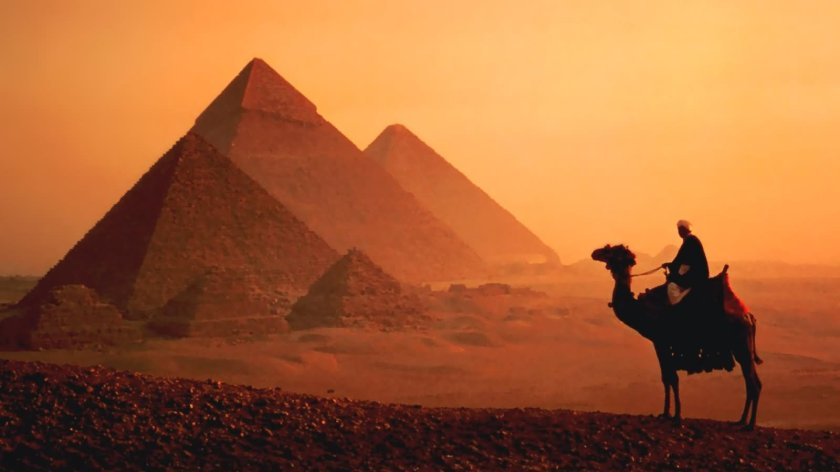 The iconic pyramids of Egypt
