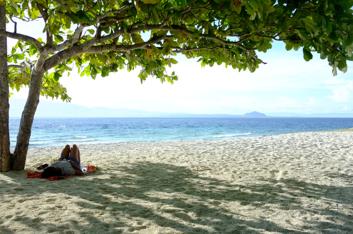 Under the tree Cuatros Islas in Leyte Stunning Photo