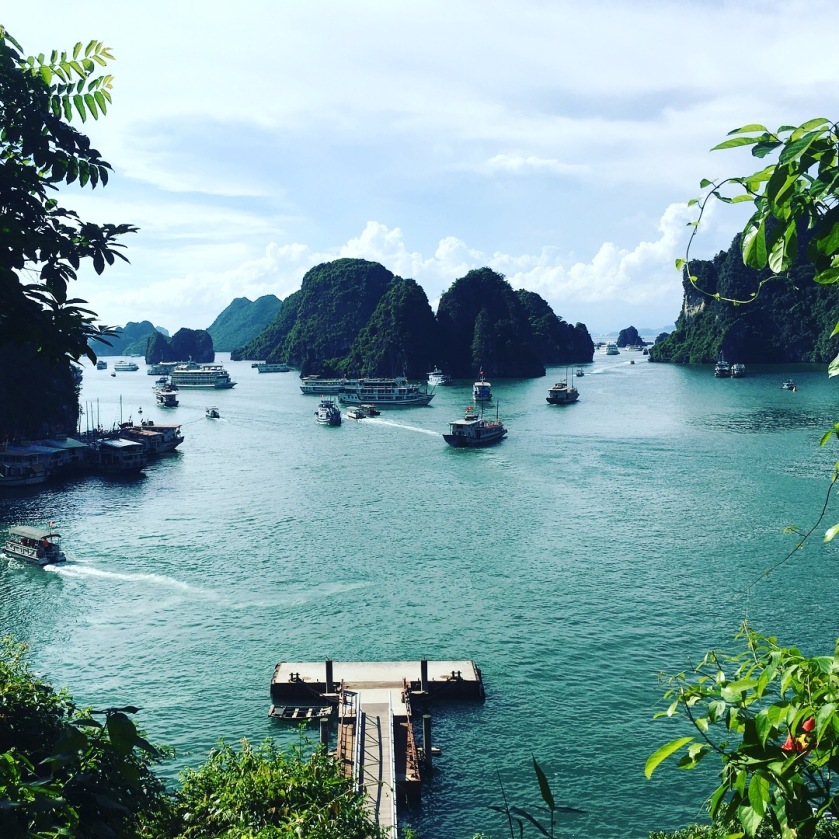 Halong Bay view from atop - Vietnam