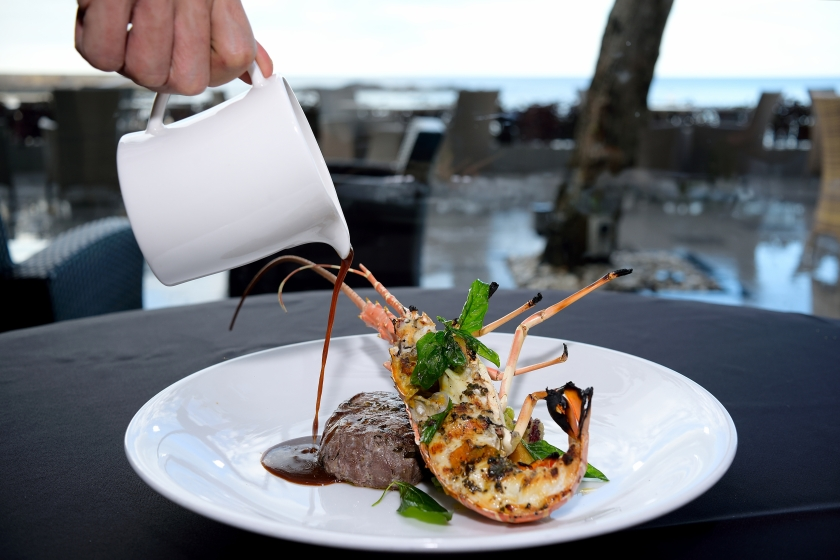 Seafood and steak. What a combination!